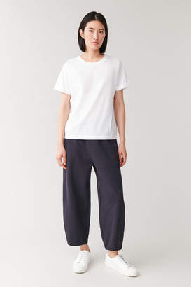 Cos COTTON T-SHIRT WITH ROLLED CUFFS