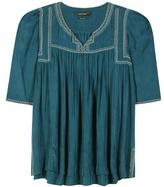 Isabel Marant Livia Embroidered Silk Blouse