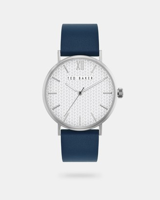 Ted Baker FHILIP Leather strap watch