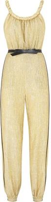 Fendi Metallic Belted Jumpsuit