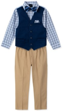 Nautica Little Boys 4-Pc. Twill Vest Set