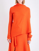 Marques Almeida Asymmetric knitted wool top