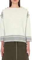 Alexander McQueen Slash neck cashmere jumper