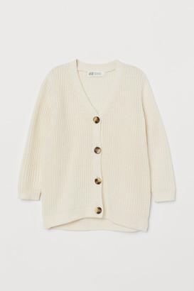 H&M Ribbed Cardigan - White