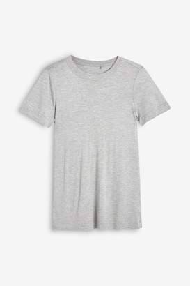 Next Womens Grey Marl Weekend T-Shirt - Grey