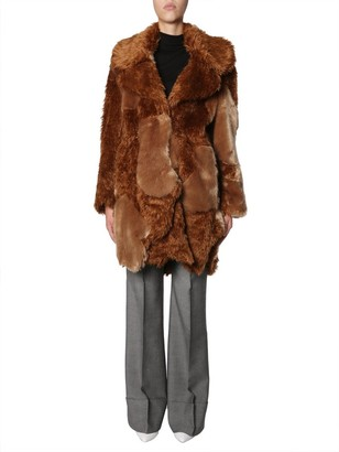 Stella McCartney Faux Fur Oversized Coat
