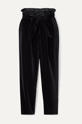 Alice + Olivia Alice Olivia - Farrel Oversized Belted Velvet Pants - Black
