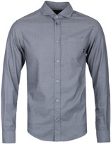 Armani Jeans Fantasia Grey Fine Striped Shirt