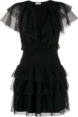 Liu Jo tulle ruffled mini dress
