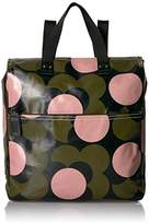 Orla Kiely Shiny Laminated Shadow Flower Print Backpack