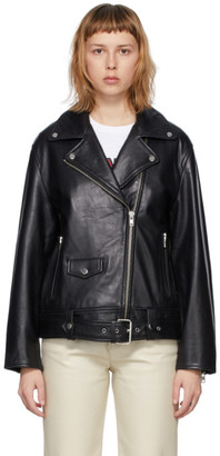 Stand Studio Black Leather Abi Biker Jacket