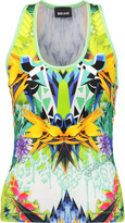 Just Cavalli Printed stretch-jersey tank