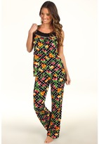 Betsey Johnson Luscious Lite PJ Set (Fruit Cake Raven Black) - Apparel