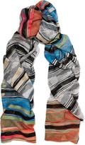 Missoni Mare striped crochet-knit scarf