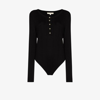 USISI SISTER Knitted Button-Up Bodysuit