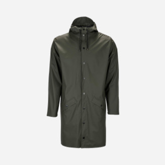 Rains Green Unisex Raincoat Long Jacket - S/M - Green