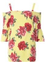 Dorothy Perkins **Tall Floral Rose Cold Shoulder Top