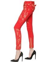 Balmain Lurex Embroidered Cotton Denim Jeans