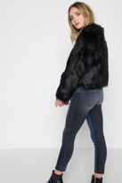 7 For All Mankind Faux Fur Coat In Black