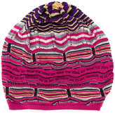 Missoni multi pattern knitted beanie