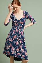 Maeve Ruched V-Neck Dress