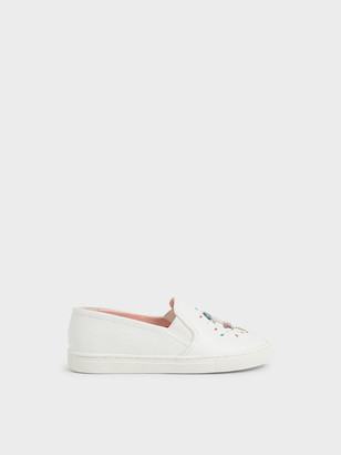 Charles & Keith Girls' Rainbow Sprinkles Motif Sneakers