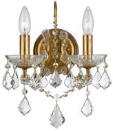 Swarovski Crystorama Filmore Two-Light Elements Crystal Gold Sconce