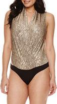 Bisou Bisou Surplice Sleeveless Bodysuit