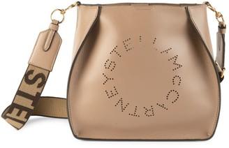 Stella McCartney Mini Stella Logo Perforated Shoulder Bag
