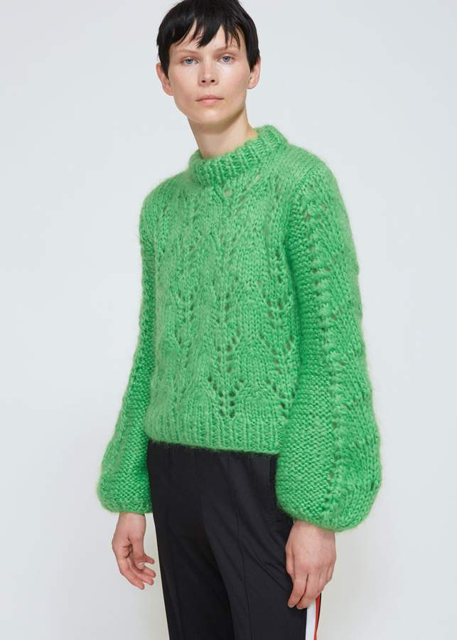 Ganni Julliard Mohair Long Sleeve Knit