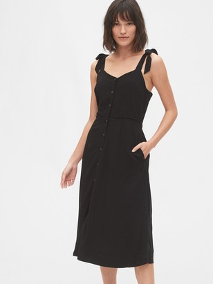 Gap Tie-Strap Cami Midi Dress