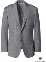 Banana Republic Standard Monogram Gray Plaid Italian Wool Suit Jacket