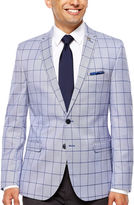 Asstd National Brand Nick Graham Navy Windowpane Slim Fit Woven Sport Coat