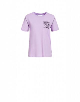 Moschino Jersey T-shirt Teddy Label Cornely Woman Purple Size 38 It - (4 Us)