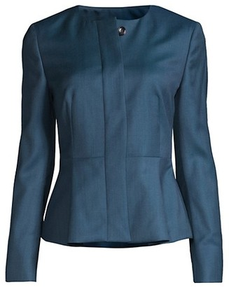 HUGO BOSS Jatoba Superstretch Minidessin Lightweight Wool Lady Jacket