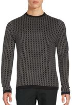 Saks Fifth Avenue Square Jacquard Silk-Blend Sweater