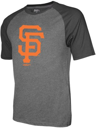 Stitches Men's Heathered Black San Francisco Giants Team Logo Raglan T-Shirt