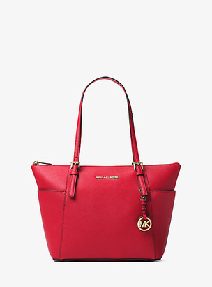 Michael Kors Jet Set Large Saffiano Leather Top-Zip Tote Bag