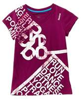 Reebok Girls' Purple Action Logo Tee.