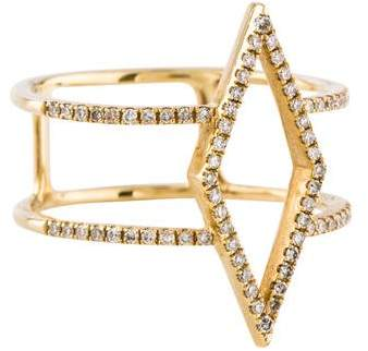 Ef Collection 14K Diamond Marquise Double Band