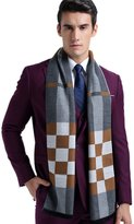 Chickle Men's Multicolor Cotton Plaid Pattern Long Winter Scarf