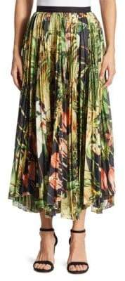 ADAM by Adam Lippes Pleated Printed Skirt