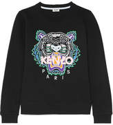 Kenzo Embroidered Cotton-jersey Sweatshirt - Black