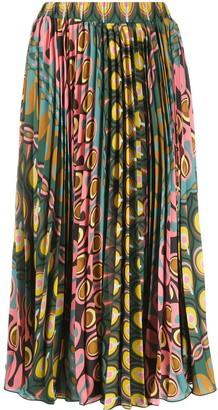 La DoubleJ Soleil graphic-print skirt