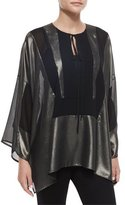 Just Cavalli Metallic Tie-Neck Bib Tunic