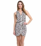 DKNY Urban Animal Draped Zipper Front Cover Up 8115474