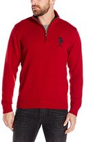 U.S. Polo Assn. Men's Solid Jersey Quarter-Zip Sweater