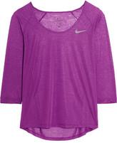 Nike Cool Breeze Dri-fit Slub Jersey Top - Purple