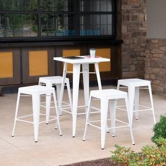"Gracie Oaks Graig Bar & Counter Stool Color: White, Seat Height: Counter Stool (26"" Seat Height)"