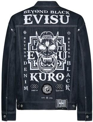 Evisu Hannya Skull Embroidery Denim Jacket